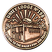 Unity Lodge centennial coin