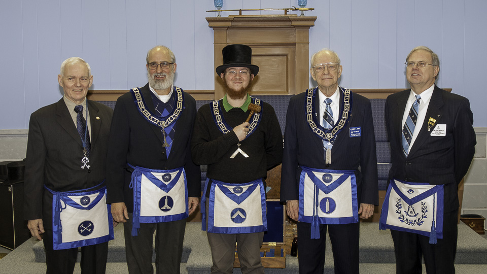Unity Lodge #198 officers for 2018