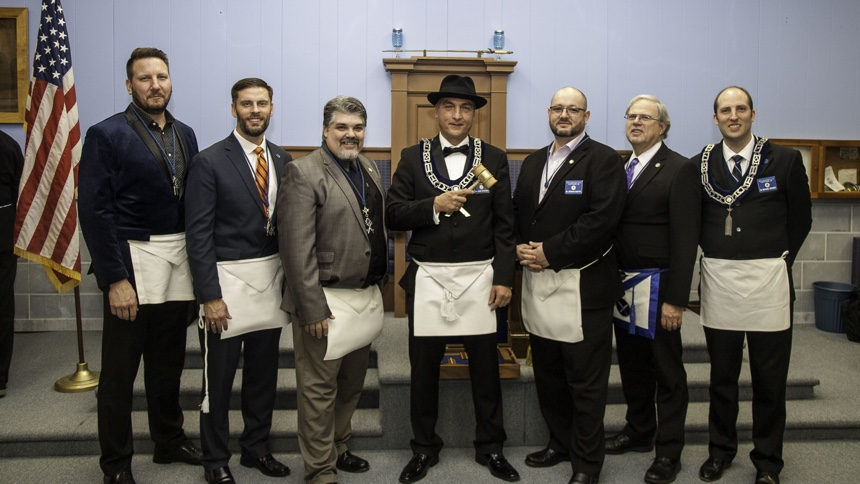 Unity Lodge #198 officers for 2020